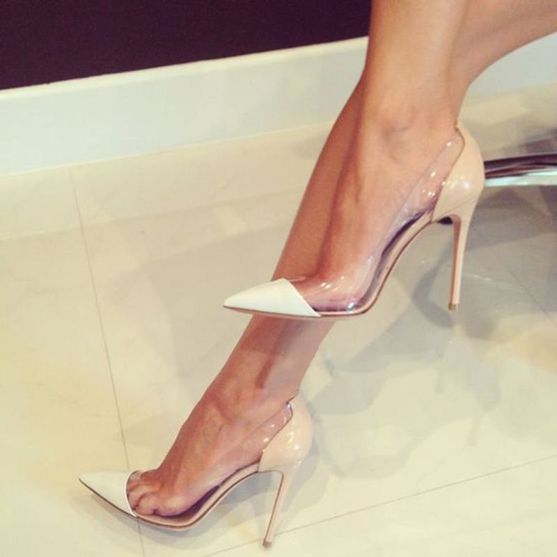 Slip-On Stiletto Heel Pointed Toe 10cm Low-Cut Upper Thin Shoes