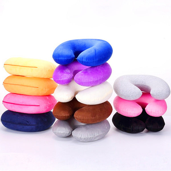 Travel U-shaped pillow Inflatable Neck Pillow