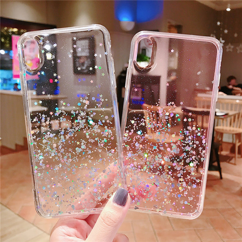 Glitter Bling Sequins Soft TPU Case For iphone