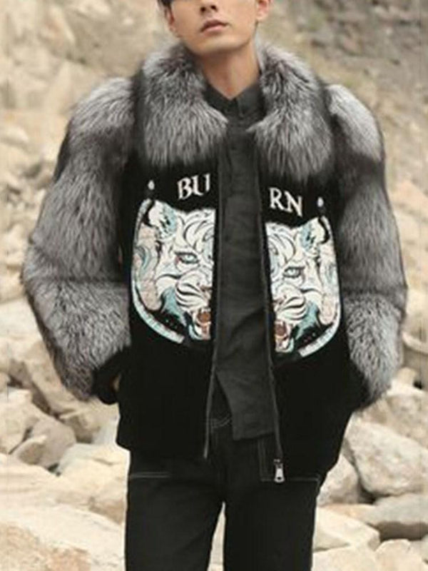 Standard Animal Straight Casual Coat