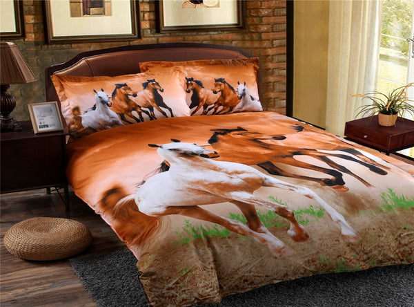 Polyester Reactive Printing Duvet Cover Bedding Set Hand Wash