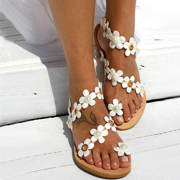 Thong Slip-On Flat With Beach Western Sandals