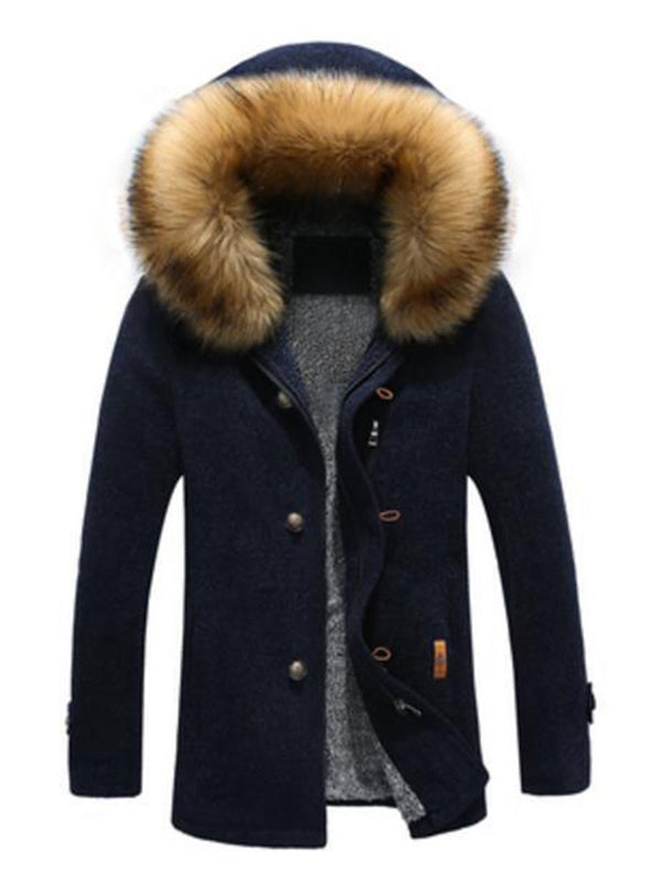 Detachable Hooded Warm Men's Coats