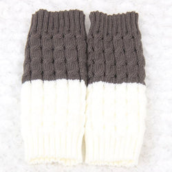Warm Color Block European Winter Socks