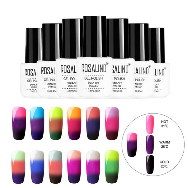 Nail Gel Temperature Change Color UV Vernis Semi Permanant Gel Nail Polish Hybrid Nails Art Manicure Set