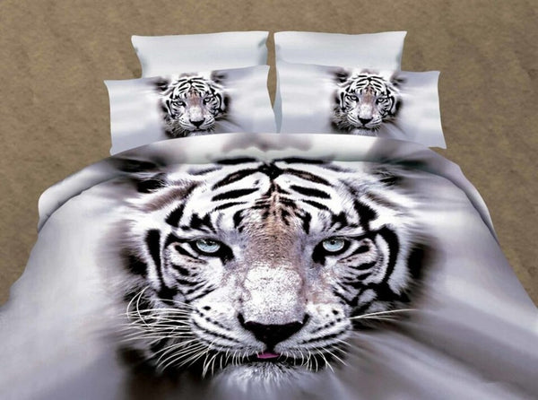 Polyester Hand Wash Duvet Cover Set Reactive Printing Bedding Set