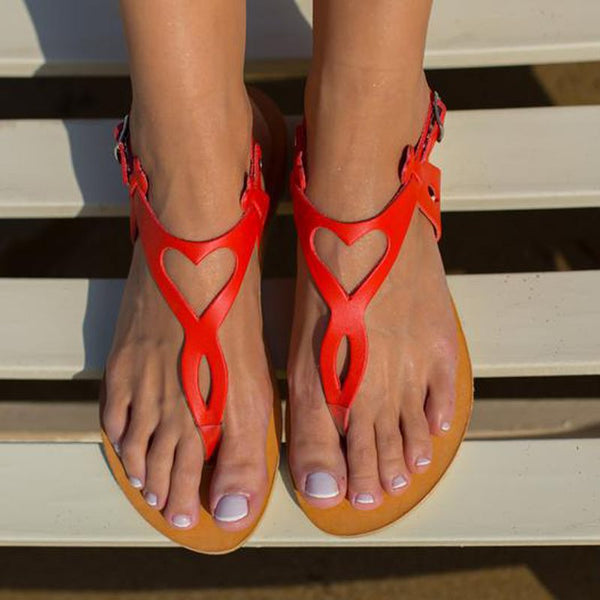 Thong Buckle Flat With Beach Plain Sandals