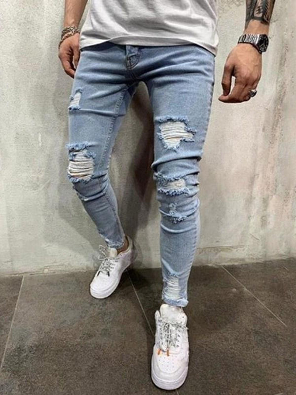 Zipper Casual Zipper Jeans