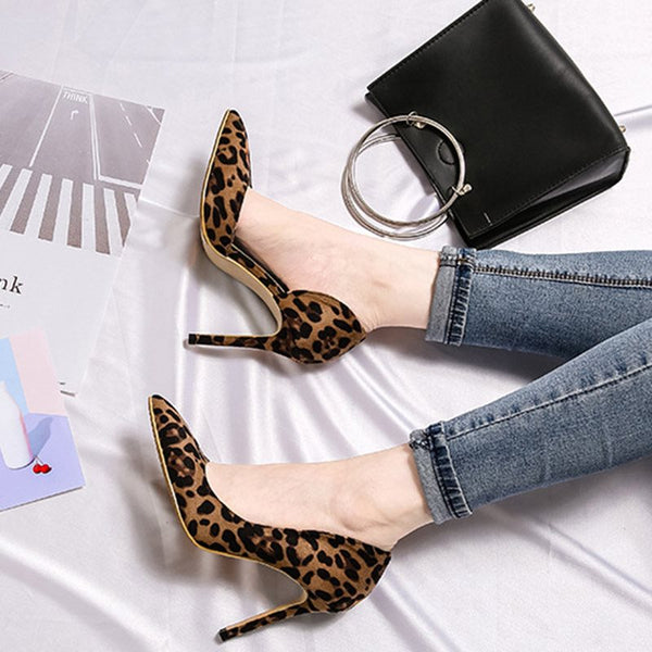 Stiletto Heel Slip-On Pointed Toe Casual 8cm Thin Shoes