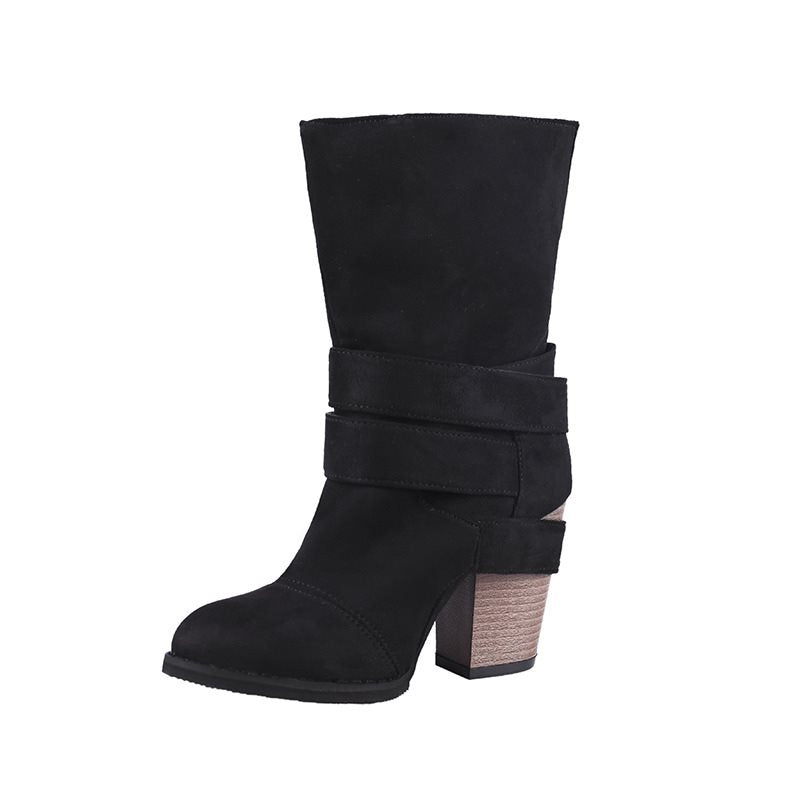 Rubber Suede Fashion Women's Boots