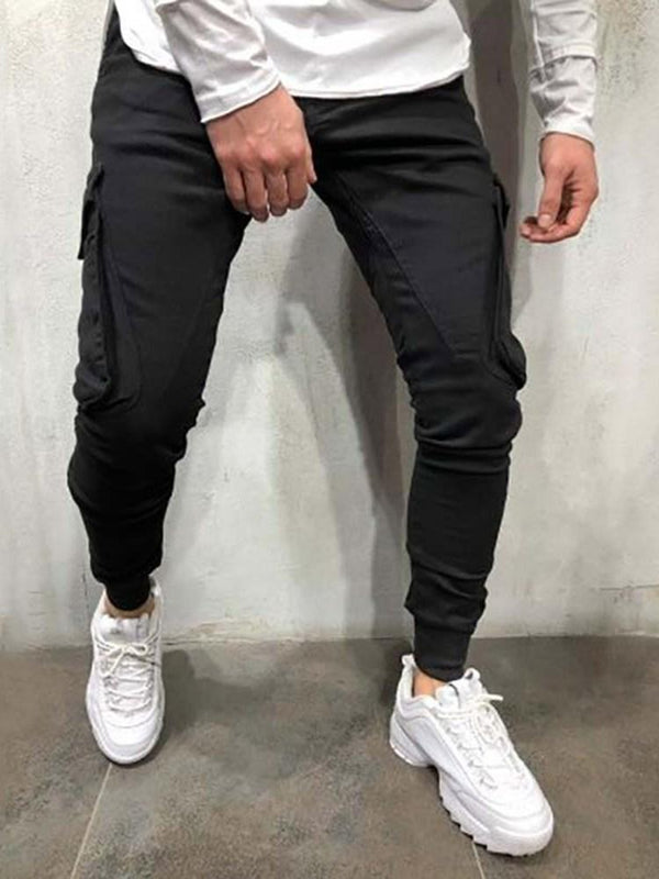 Plain Pocket Casual Spring Casual Pants
