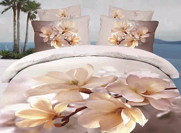 Cotton Bedding Set Duvet Cover Set Machine Wash Reactive Printing
