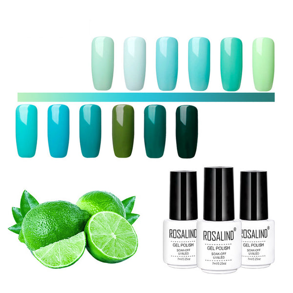 Nail Art Gel Varnish Green Gel Lacuqer UV LED Green Color Primer Top Base Coat UV LED Soak Off Manicure Gel Polish
