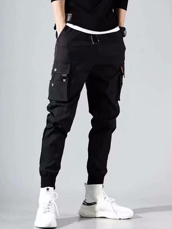 Lace-Up Mid Waist Casual Pants