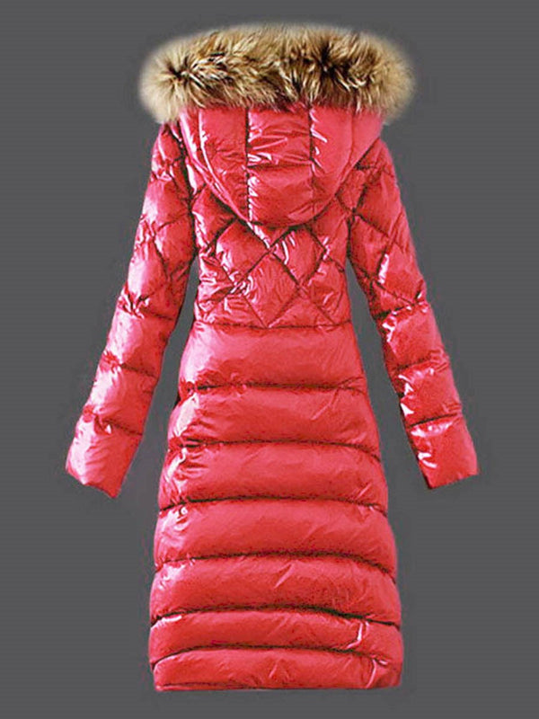 Straight Long Cotton Padded Jacket