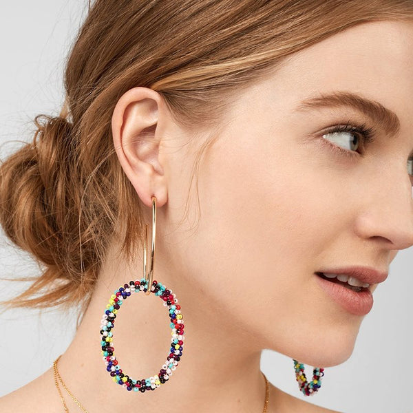 European Geometric E-Plating Birthday Earrings