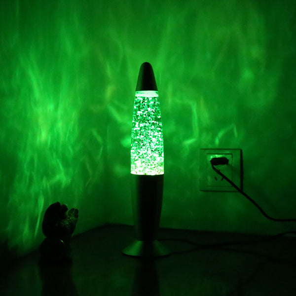 USB Multi Color Changing 3D Rocket Lava Lamp