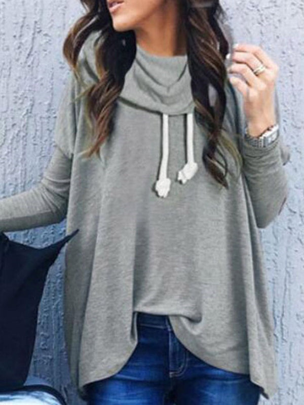 Plain Lace-Up Winter Thin Hoodie