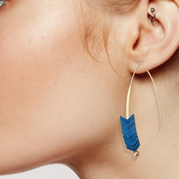 Vintage Alloy Geometric Birthday Earrings
