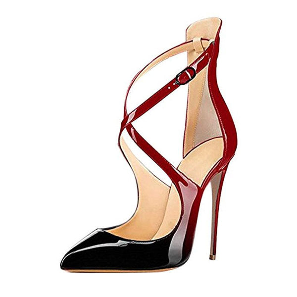 Stiletto Heel Buckle Pointed Toe Casual 11cm Thin Shoes