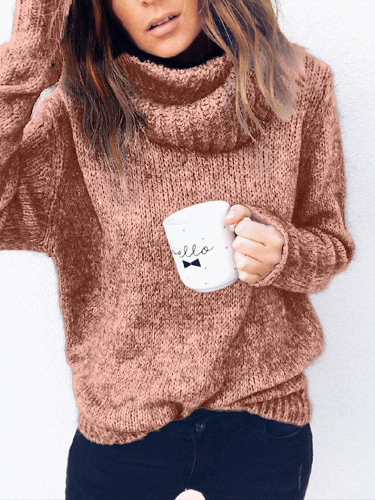 Regular Turtleneck Fall Sweater