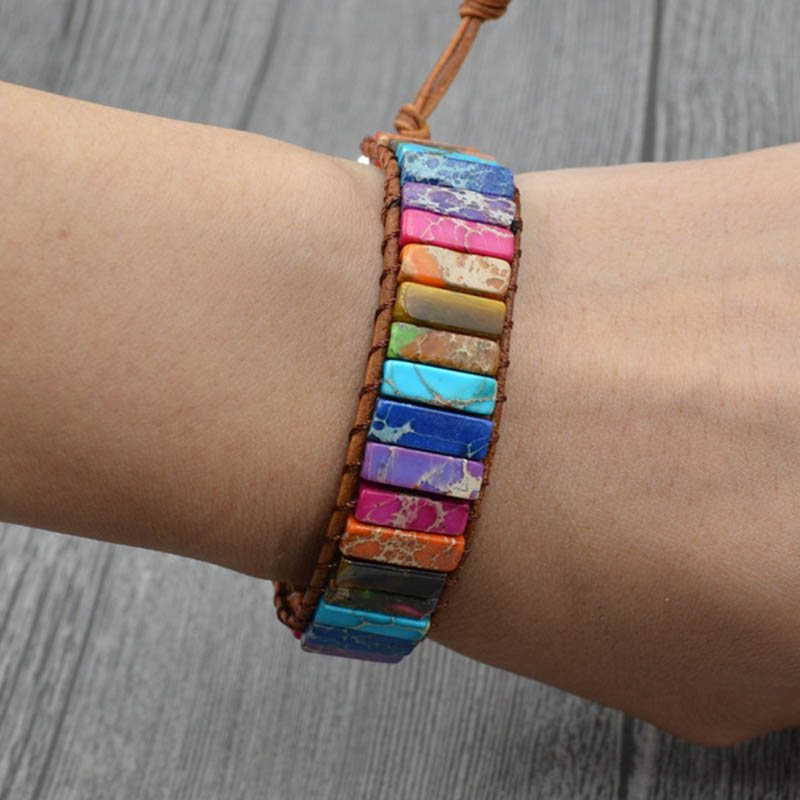 Color Block Woven Ethnic Unisex Bracelets
