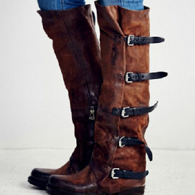 Long Thick Heel Women's Boots
