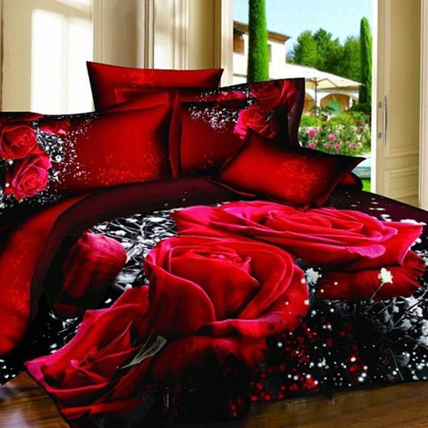 Cotton Machine Wash Bedding Set Duvet Cover Set Reactive Printing