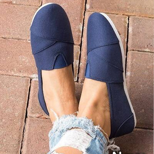 Flat With Slip-On Round Toe Casual Low Heel Thin Shoes