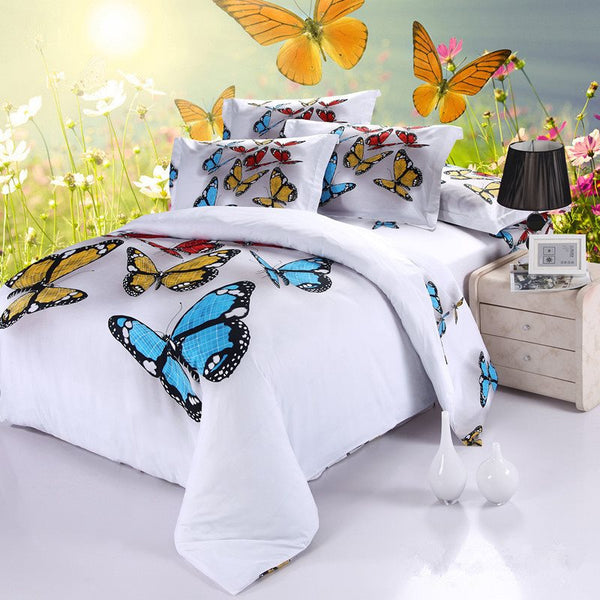 Cotton Hand Wash Duvet Cover Set Reactive Printing Bedding Set