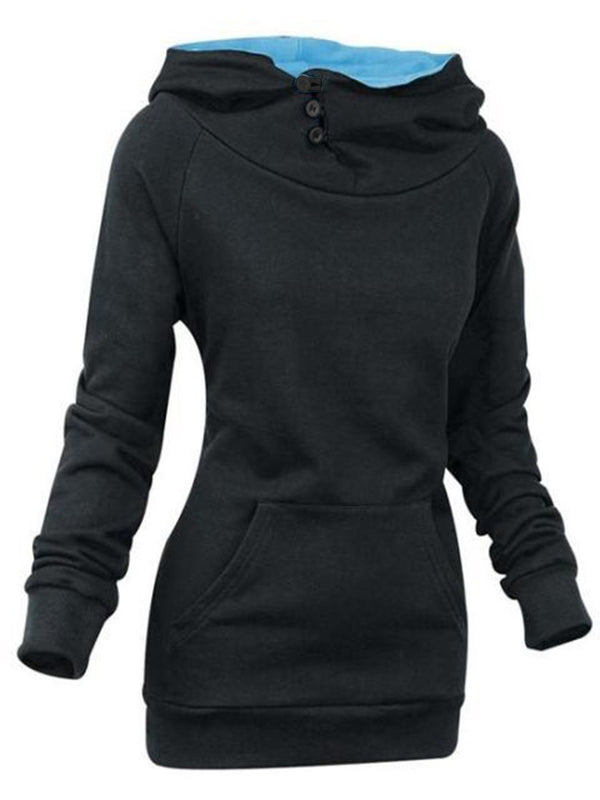 Plain Regular Mid-Length Spring Hoodie