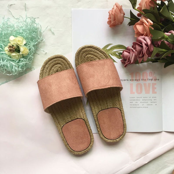 Slip-On Flip Flop Flat With Summer Plain Slippers