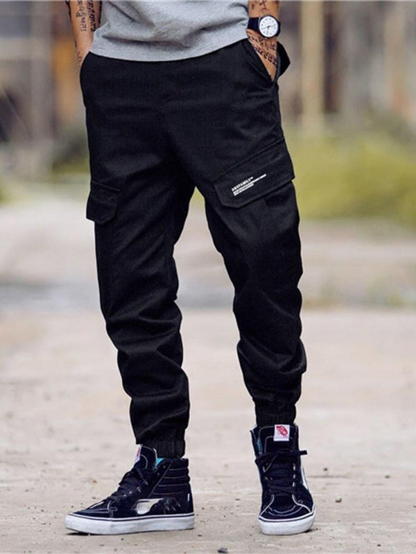 Straight Print Letter Casual Mid Waist Casual Pants