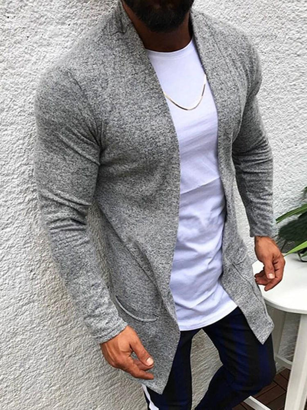 Mid-Length Plain Horn Button Loose Sweater