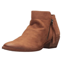 Round Toe Chunky Heel Plain Side Zipper Thread PU Boots