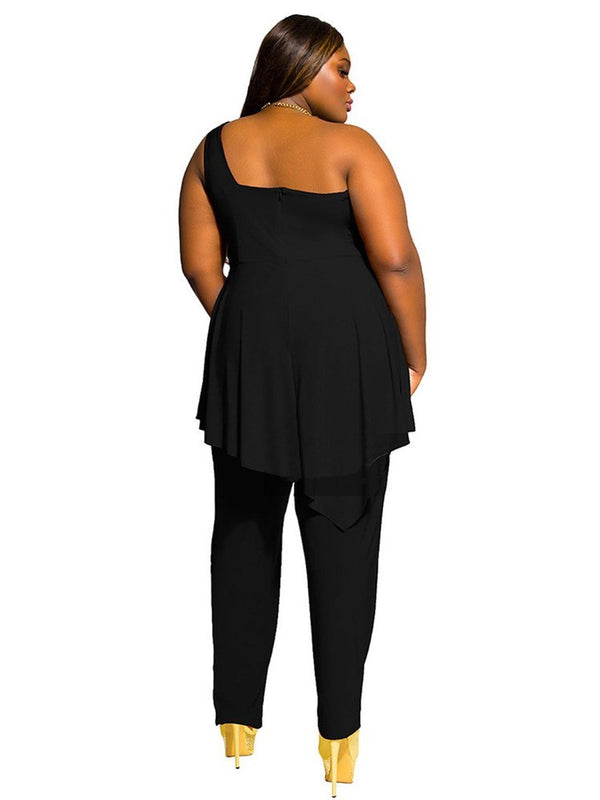 Full Length Plain Casual High-Waist Slim Jumpsuits