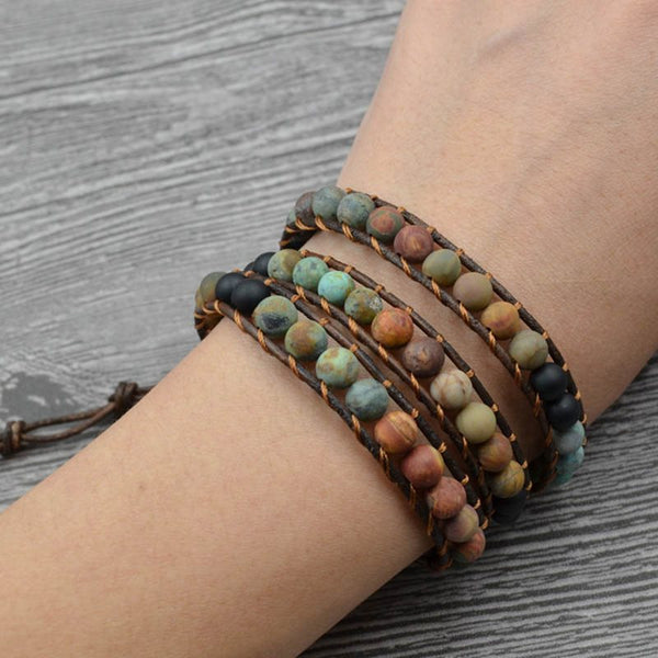 Woven Ethnic Color Block Unisex Bracelets