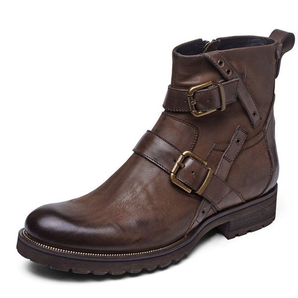 Round Toe Men's Ankle Boots