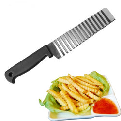 Potato French Fry Cutter Stainless Steel Wave Knife Chopper Kitchen Accessories