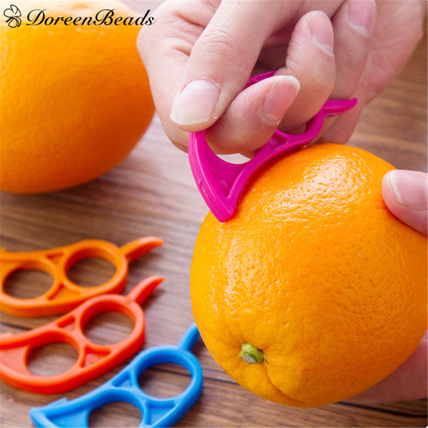 Beads Plastic Orange Peelers Zesters Lemon Grapefruit Fruit Slicer Opener Cutter