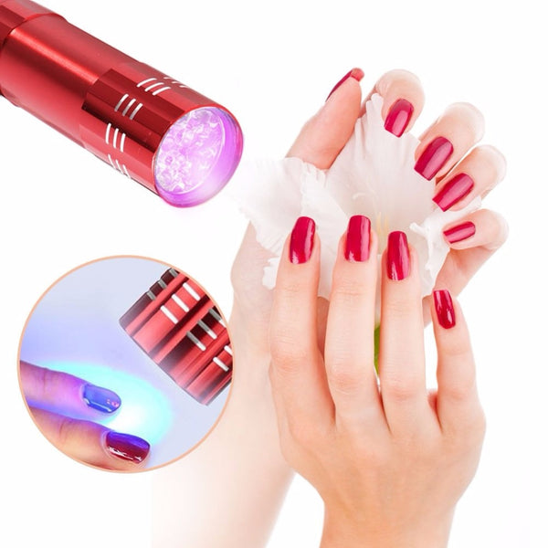 New arrival 1pc Mini LED UV Gel Curing Lamp Without Battery Portability Nail Dryer