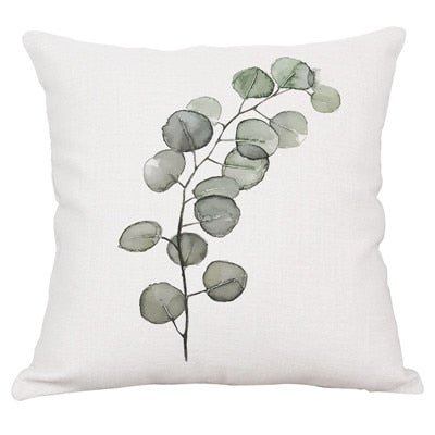 Tropical plant rain forest fern Monstera cushion cover 45cmX45cm