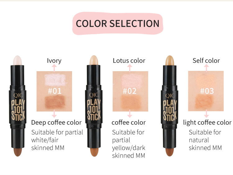 Makeup Creamy Double-ended 2 in1 base foundation Contour Stick