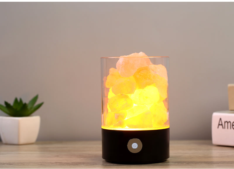 USB Crystal Salt Night Light Himalayan Crystal Rock Salt Lamp
