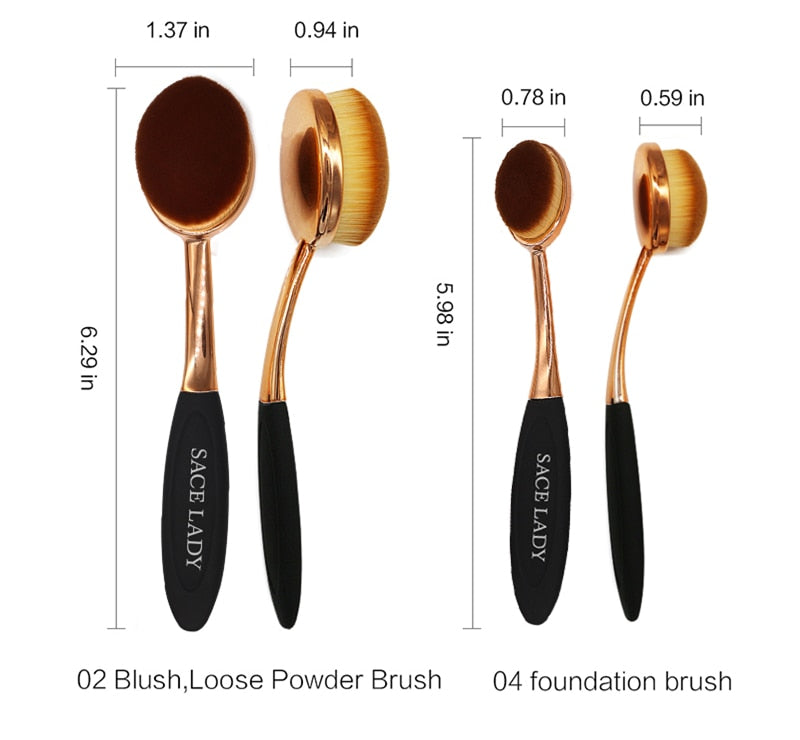 Professional Toothbrush Soft Makeup Foundation Brush