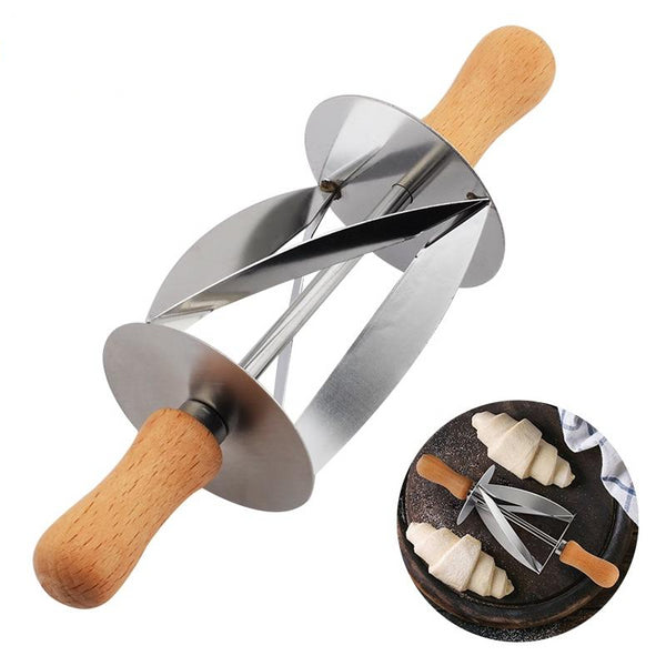 Stainless Steel Rolling Cutter for Making Croissant Bread