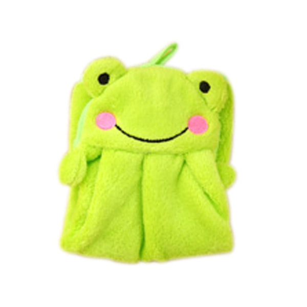 Eco-friendly Candy Colors Soft Coral Velvet Cartoon Animal Towel