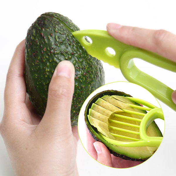 3 In 1 Avocado Slicer Shea Corer Butter Fruit Peeler Cutter