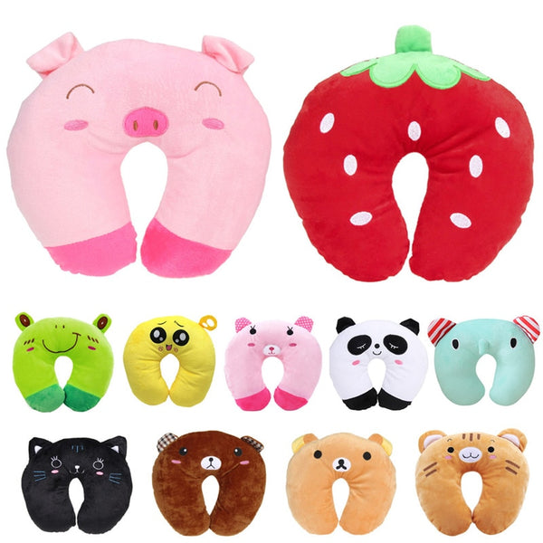 Soft Cartoon shape shaped neck pillow travel memory foam neck support rest pillows