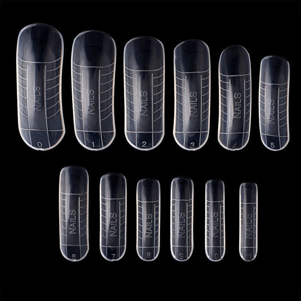 120 Pcs Quick Building Mold Tips Nail Dual Forms Finger Extension Nail Art